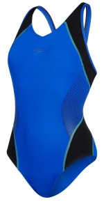 Speedo Fit Splice Muscleback Blue/Black/Spearmint