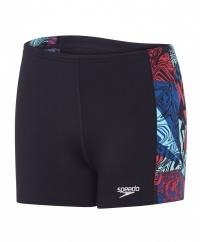 Speedo Astro Ignite Allover Panel Aquashort Junior Black/Red