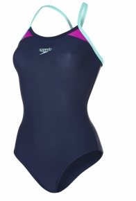 Speedo Splice Thinstrap Racerback Navy/Diva/Spearmint