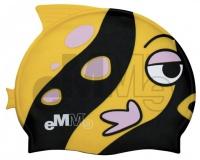 Gyermek úszósapka Emme fekete-sárga bálna
