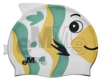 Gyermek úszósapka Emme zöld-sárga bálna