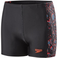 Speedo Paintblast Allover Panel Aquashort Boy Black/Risk Red/Siren