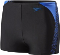 Speedo Boom Splice Aquashort Boy Black/Amparo Blue