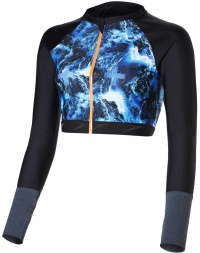 Speedo Stormza Rash Top Black/Ultramarine/Stellar