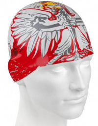 Mad Wave Poland Swim Cap