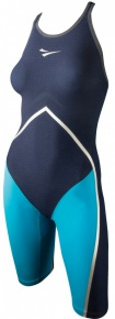 Finis Rival Closed Back Kneeskin Navy/Aqua