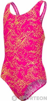 Speedo Boom Allover Splashback Girl Electric Pink/Lime Punch