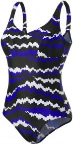 Speedo Marlena 1 Piece Black/White/Chroma Blue