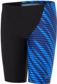 Speedo Allover V Cut Panel Jammer Boy Black/Chroma Blue/Brilliant Blue