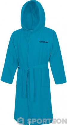 Speedo Bathrobe Microterry Blue Turquoise