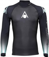 Aqua Sphere Aquaskin Top Long Sleeve Men Black/Turquoise