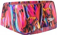 Speedo Vortex Swirl Allover Digital 14cm Brief Black/Psycho Red/Lava Red