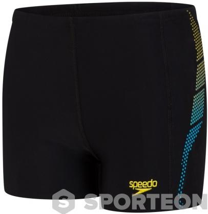 Speedo Plastisol Placement Aquashort Boy Black/Turquoise/Empire Yellow