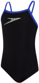 Speedo Boom Placement Thinstrap Muscleback Girl Black/Beautiful Blue