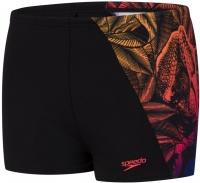 Speedo JungleLizzard Digital Placement Aquashort Boy Black/Navy/Cosmo/Lava Red/Mango
