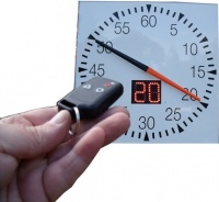 Swimaholic Pace Clock Remote Control Inc Digital Readout Square 1000mm