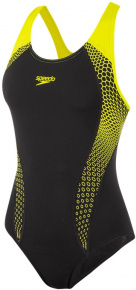 Speedo Placement Laneback Black/Fluo Yellow