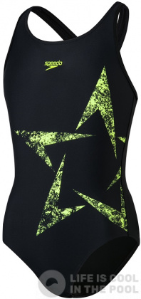 Speedo Boomstar Placement Flyback Girl Black/Fluo Yellow