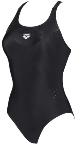 Arena Mirrored V Back One Piece Black