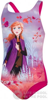 Speedo Disney Frozen Anna Digital Placement Medalist Girl Magenta/Hard Candy/Diva