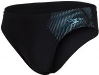 Speedo Tech Placement 7cm Brief Black/Light Adriatic